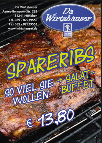 Spareribs 'all you can eat'